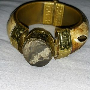 Beautiful Natural Stone Bangle Bracelet